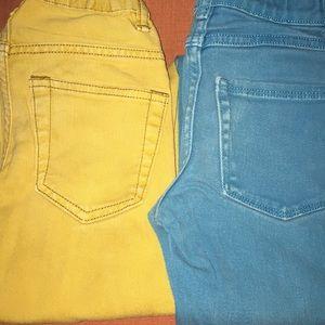 7 pairs size 7-7 slim jeans, Gymboree, Gap & Levi